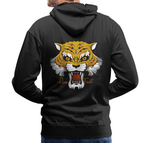 Tiger - Live Fast - Männer Premium Hoodie