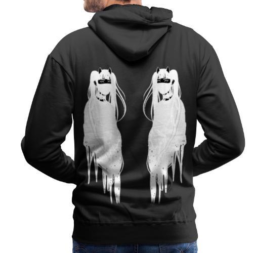 Face To Face (white) - Sweat-shirt à capuche Premium pour hommes