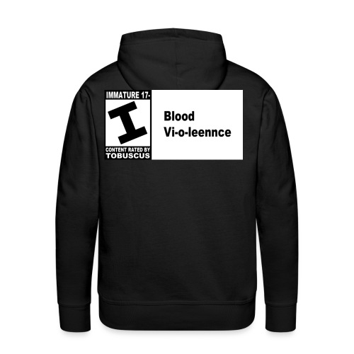 blood violence rated by - Men's Premium Hoodie