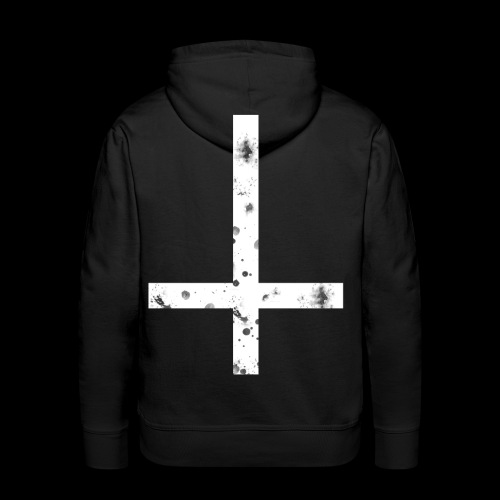 inverted cross white png - Men's Premium Hoodie