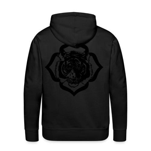 2424146 100 tigre - Sweat-shirt à capuche Premium pour hommes