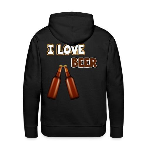 I love beer | Bier Flaschen Spruch lustig Alkohol - Männer Premium Hoodie