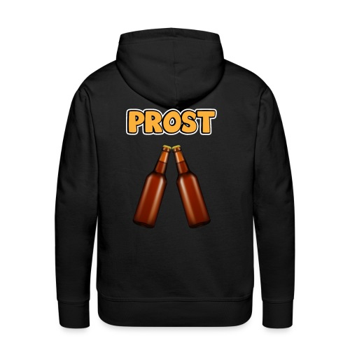 Prost Bier Flaschen - Männer Premium Hoodie