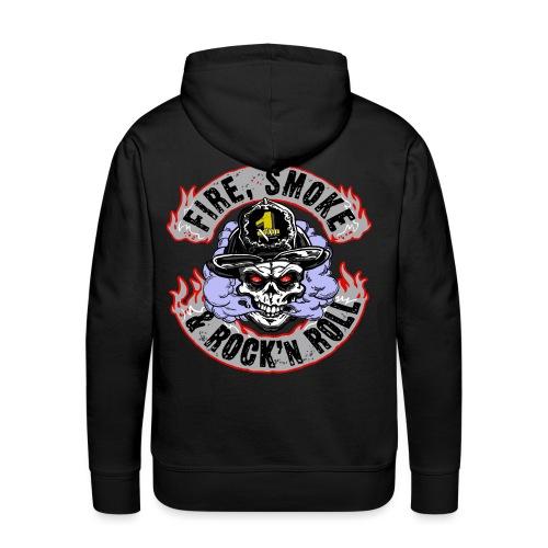 Fire, Smoke und Rock n Roll - Männer Premium Hoodie