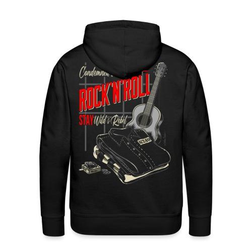 Condenado al Rock and Roll - Sudadera con capucha premium para hombre