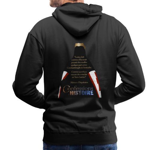 Série Citation Aliénor n°1 - Sweat-shirt à capuche Premium pour hommes