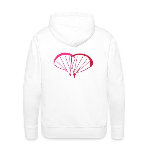 I Love Paragliding V2 - Men's Premium Hoodie