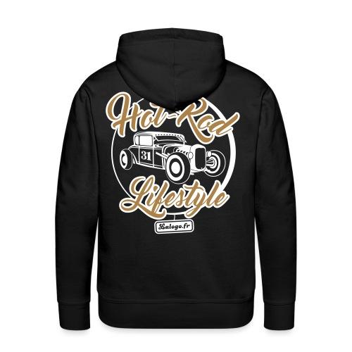Hot-Rod Lifestyle 3 - Sweat-shirt à capuche Premium pour hommes