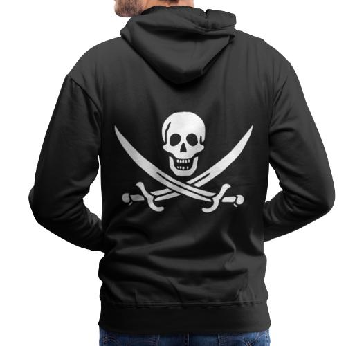 Jack Rackham Flag - Sweat-shirt à capuche Premium pour hommes