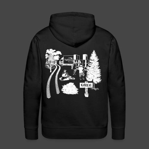 Free Party Tekno 23 - Sweat-shirt à capuche Premium pour hommes