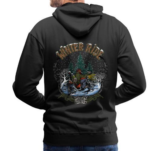Winter ride - Sweat-shirt à capuche Premium pour hommes