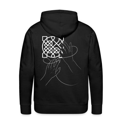 L'art de la broderie (blanc) - Sweat-shirt à capuche Premium pour hommes