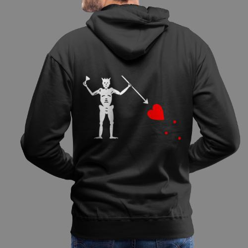 Edward Teach Flag - Sweat-shirt à capuche Premium pour hommes