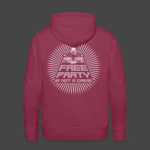 free party n'est pas un crime tekno 23 - Sweat-shirt à capuche Premium pour hommes