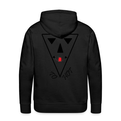 tshirt ontwerp to hot - Mannen Premium hoodie