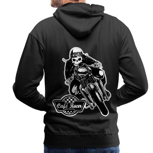 Café Racer - Sudadera con capucha premium para hombre