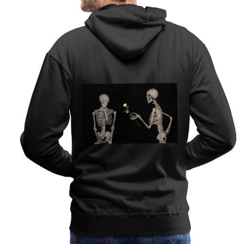 Skelett Gothic Valentinstag - Männer Premium Hoodie