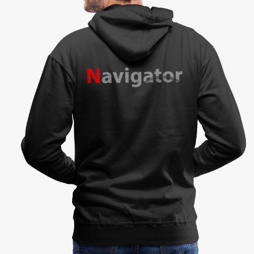 Navigator grijs/rood merchandise - Mannen Premium hoodie