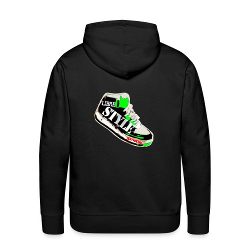 LS vert png - Sweat-shirt à capuche Premium pour hommes