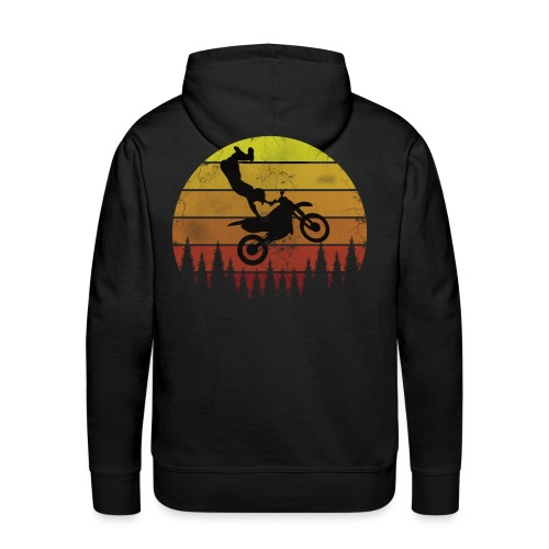 Motocross Motocross Freestyle - Vintage Retro - Männer Premium Hoodie