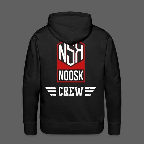 NOOSK CREW [ROUGE] - Sweat-shirt à capuche Premium pour hommes