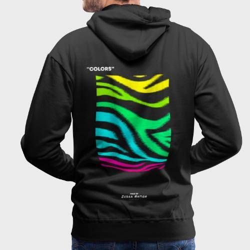 Zebra Nation (Colors) 2019 Collection - Men's Premium Hoodie