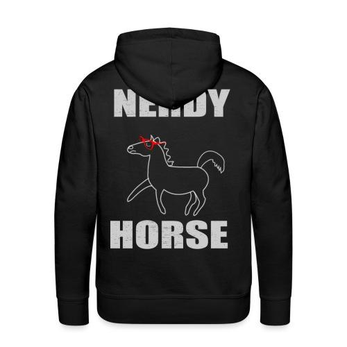 Nerdy Horse Gift rote Brille Geschenkidee - Männer Premium Hoodie
