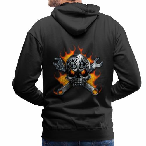 skull with crosstools - Miesten premium-huppari