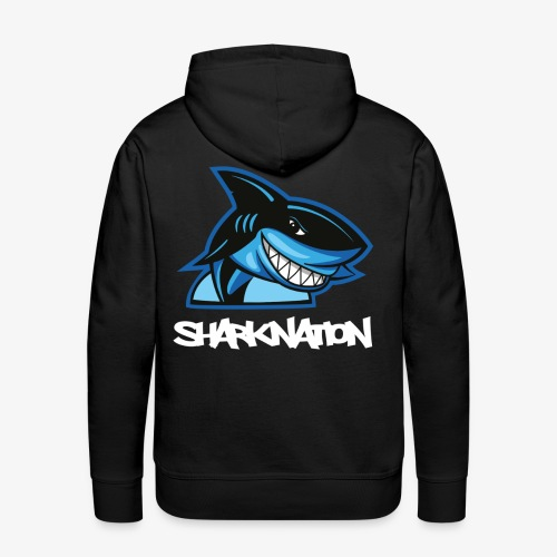 SHARKNATION / White Letters - Mannen Premium hoodie