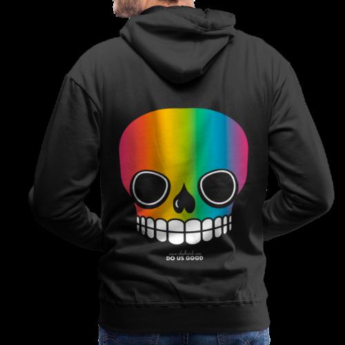 JUST SKULL rainbow - Miesten premium-huppari
