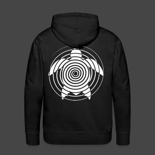 tartaruga a spirale 23 - Felpa con cappuccio premium da uomo