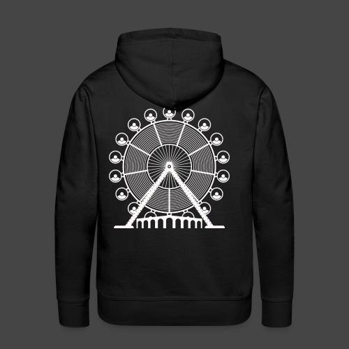 tekno, 23, roue, roue - Sweat-shirt à capuche Premium pour hommes