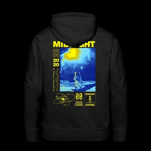 Midnight Astronaut Electric Yellow - Men's Premium Hoodie