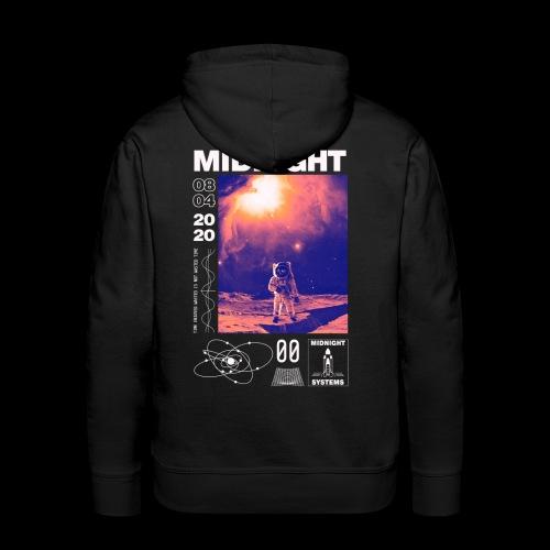 Midnight Astronaut Cosmic Pink - Men's Premium Hoodie