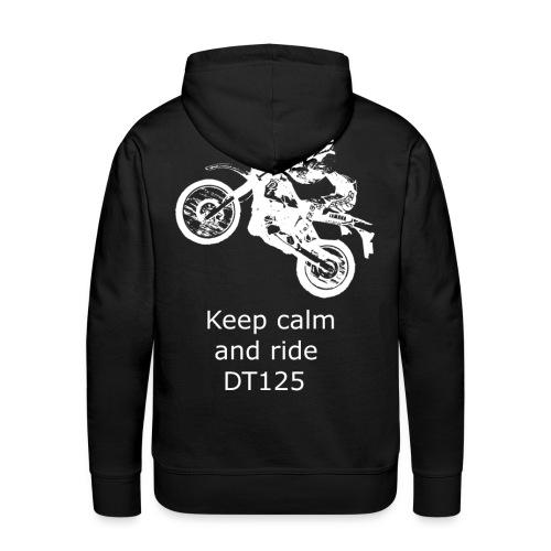 dt biker transp wheelie calm png - Männer Premium Hoodie