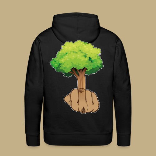 Mittelfingerbaum - Männer Premium Hoodie