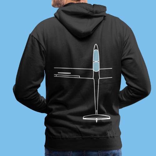 Segelflugzeug von oben Segelflieger gleiten - Männer Premium Hoodie