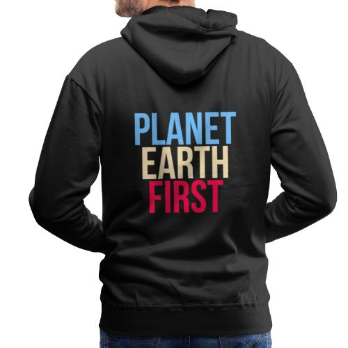 Planet Earth First - Fridays For Future - Männer Premium Hoodie