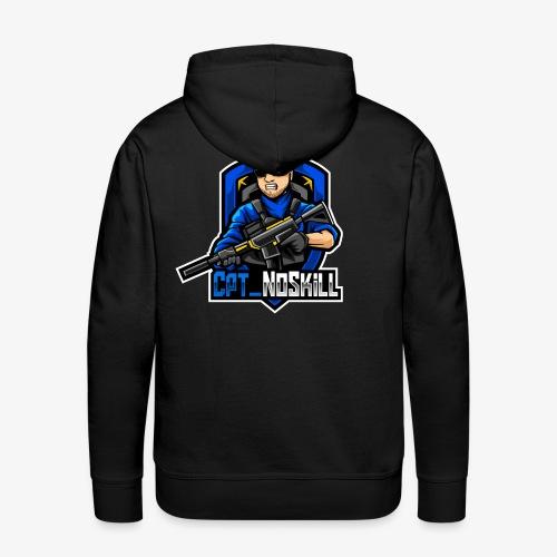 Cpt_NoSkill Logo Blau - Männer Premium Hoodie