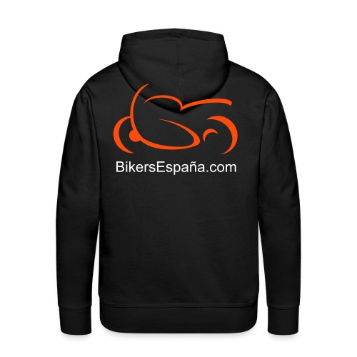 sportsbike with text - Men's Premium Hoodie