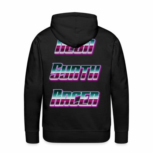 Neon Synth Racer - Sweat-shirt à capuche Premium pour hommes
