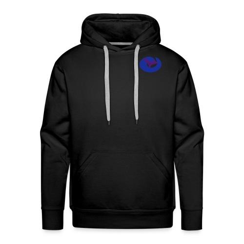 logovect1bleunoir - Sweat-shirt à capuche Premium pour hommes