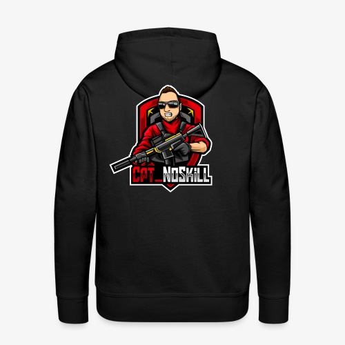 Cpt_NoSkill Logo Rot - Männer Premium Hoodie