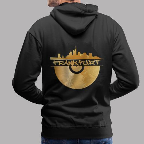 Frankfurt Skyline Music Schallplatte, Urban HipHop - Männer Premium Hoodie