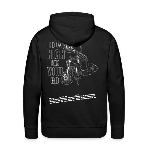NoWayBiker - Wheelie - How High Can You go - Premium hettegenser for menn