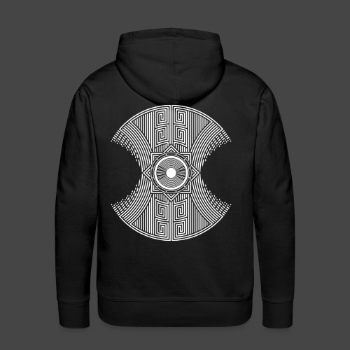 spirale Maya - Sweat-shirt à capuche Premium pour hommes