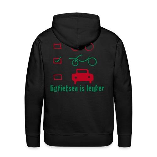 ligfietsen is leuker - Mannen Premium hoodie