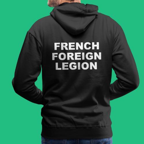 logo lettres blanc - Sweat-shirt à capuche Premium pour hommes