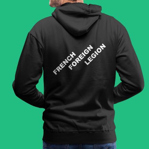 logo lettres decale blanc - Sweat-shirt à capuche Premium pour hommes