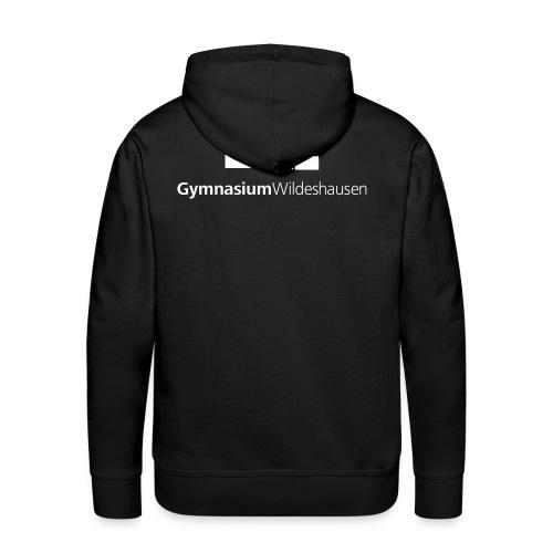 Gymnasium Logo Schwarz Weiss - Männer Premium Hoodie